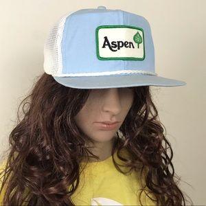 Vintage • Aspen Patch Mesh Trucker Strapback Hat